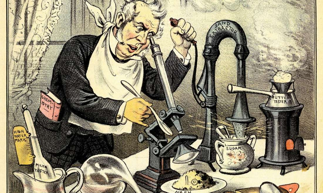 Victorian Cartoon Depicting the Scope of Food Adulteration